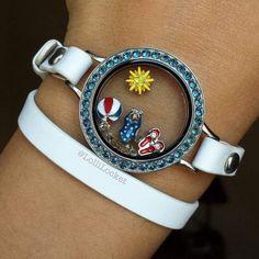 Origami Owl summertime wrap bracelet! www.charmingsusie.origamiowl.com