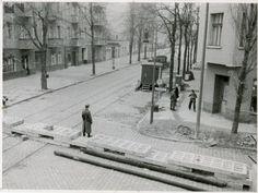 1961 Berlin - Alles dicht: Der Mauerbau zwischen Treptow und Neukölln in der Heidelbergerstraße (Foto: Museum Neukölln). ☺