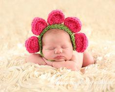 Flower Petal Bonnet Crochet Photo Prop by DizzyStitchCrochet, $25.00