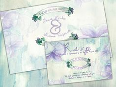 Printable Purple and Green Floral Wedding by SixDaysCreations
