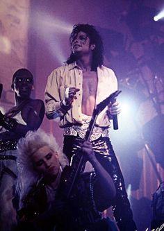 Michael Jackson, Jennifer Batten, and Greg Phillinganes in Moonwalker