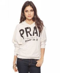 ShopStyle: Forever 21 Pray Hoodie