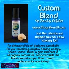 """There are times in your life when you need support when you need to be uplifted vibrationally held in the loving embrace of nurturing healing energies. That's what every Dancing Dolphin product does.  Custom Blends provide tailored-made support specifically developed for you and whatever you are facing right now. I am known as the """"Chalice of Divine Frequencies"""" and have the ability to """"tune in"""" to your higher self and guides and receive insight into the specific frequencies you need right…"""