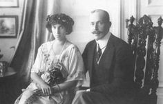 Their Highnesses Prince Wilhelm and Princess Sophie of Wied, Prince and Princess of Albania. Married: November 30, 1906