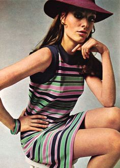 theswinginsixties:  Model wearing a dress by Stefney for Queen Magazine, May 1968.