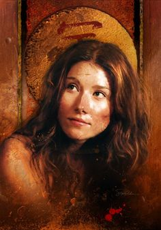 """Jewel Staite played the ship's mechanic Kaylee Frye in Joss Whedon's short-lived sci-fi western TV series """"Firefly. Firefly Series, Firefly Art, Firefly Serenity, Tv Series, Jewel Staite, Kaylee Firefly, Science Fiction, Joss Whedon, Cultura Pop"""
