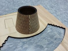 "numeratordesign: Laser cutter - this in to a lamp. 1/4"" plywood and AutoCAD 2D"