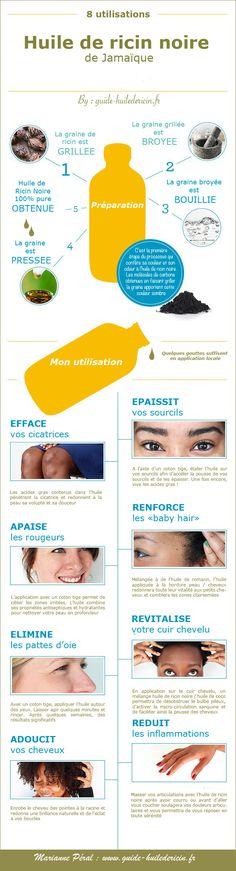 infographie huile de ricin noire