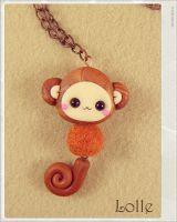 Clay Flurry Monkey by LolleBijoux