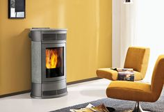 pellet stove can be easily installed Deco Retro, Pellet Stove, Home Appliances, Wood, Products, Wood Oven, Ovens, Fuel Saver, Combustion Chamber