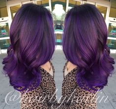 Purple Balayage ombré