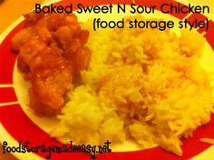 Baked Sweet and Sour Chicken Recipe from Pinterest -- food storage style