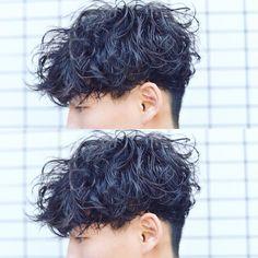 Perm Hair Men, Curly Hair Men, Curly Hair Styles, Male Haircuts Curly, Haircuts For Men, Permed Hairstyles, Boy Hairstyles, Shaved Hair Designs, Wavy Hair Perm