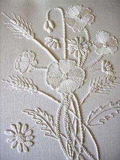 A Whitewashed House — seasonsofwinterberry:  White Embroidery ~ Pat...