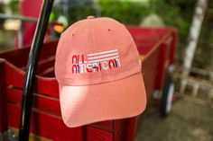 All-American dad hat, perfect for all the summer gatherings. Customize your own hat from Lids Custom Zone.
