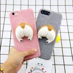 Cute Corgi Butt Wool Cover for Apple iPhone 6 7 8
