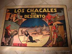 ANTIGUO COMIC ORIGINAL El hombre enmascarado, los chacales del desierto, hispano americana, anos 40