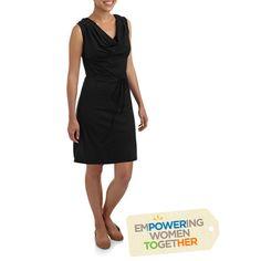 Nirmal for Full Circle Exchange Womens Sleeveless Cowl Neck Dress - Walmart.com