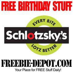 BIRTHDAY FREEBIE – Schlotzsky's - FREE Sandwich or Pizza