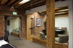 executive office within open office space