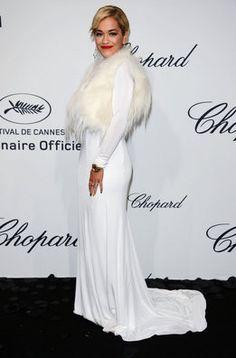 La actriz Rita Ora en la fiesta de Chopard en Cannes