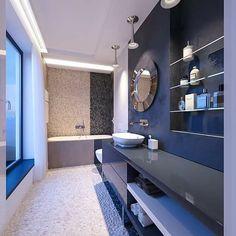 Keď má muž svoje požiadavky a predstavy na kúpeľňu, tá môže následne vyzerať aj takto 🙂 Viac z našich projektov nájdete na www.tolicci.com #kupelna #bathroom #ducha #showers #kupelka #bathroomdesign #bathrooms #bathroomdecor #koupelna #elbaño #kupelna #bathroominterior #bathroominteriors #bathroominteriordesign Soft Colors, Minimalism, Fashion Trends, Rain Shower Heads, Soothing Colors, Trendy Fashion