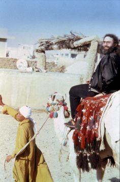 Jerry on Horse in Egypt 1978