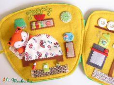 Reka fox spotted mug cottage-játszókönyvecske, baby-mother-child toy, game Skills Development, Animal plush, cloth toy, Mesko