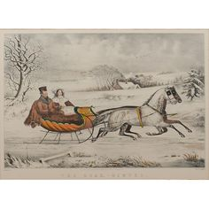 Currier & Ives, The Road, - Winter