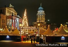 Visit a traditional Christmas market in Berlin, Germany Budapest Christmas Market, German Christmas Markets, Christmas Markets Europe, Outdoor Christmas, Christmas Lights, Budapest Winter, French Cathedrals, Christmas Cruises, Unique Vacations