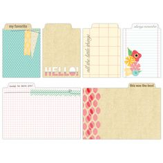 This listing is for: One new package of Serendipity Tabs by Elles Studio. Includes 6 pieces. Retail Price: $4.25