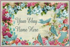 WHIMSY VINTAGE BLUEBIRD AUCTION TEMPLATE