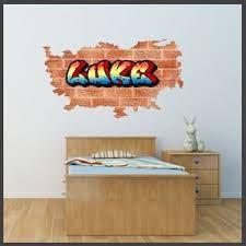 personalised graffiti wall stickers - Google Search