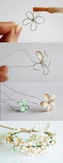 Nagellack Draht Blumen