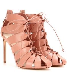 FRANCESCO RUSSO Cut-out leather ankle boots