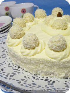 Catalina pece: Kokosový dort Raffaello s bílou čokoládou