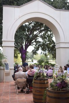 Ceremony on the patio.  Wedding photography by Sara Ozim with SO Photography