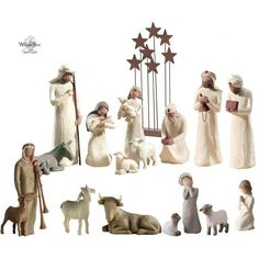 willow tree figurines  | CRÈCHE WILLOW TREE (16 figurines + étoiles)…