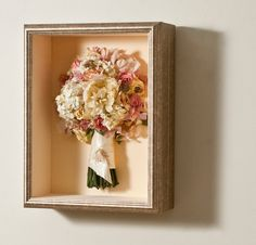 Fleur A Flair: Robin Wood Florist Bouquet in deep Shadowbox