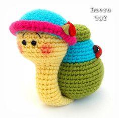 Natalie the Snail Crochet toy Amigurumi pattern PDF by LueraTOY