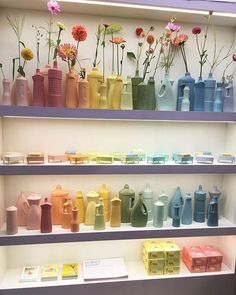 The colorful bottle vase project by Dutch Designer Foekje Fleur, is spreading awareness on the problem of plastic soup. The colored bisque porcelain vases are hand made replicas of plastic trash found all over the world. They can be mixed and matched to look good in both modern and classic decor and are lovely with some dried flowers or just a few fresh flowers from the garden. #homedecor #porcelain #flowervase #decor #design