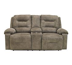 Rotation Reclining Loveseat with Console View 1