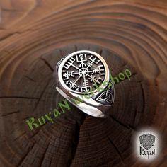 Vegvisir ring. Triskele ring. Norse Viking ring. Magic от RuyaN