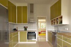 Handbyggt kök av Möllansverkstäder / hand-bygget oprindelige funkis kjøkken
