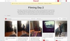 Pinterest Redrafting and re filming - We used our pinterest page to show our filming days and what we had achieved or what we hadn't achieved. In all we managed to upload 3 or 4 pages to show our progress. This enabled us to report back on our progress in a different way than just uploading it straight to the blog. We found this was a different approach to our feedback.