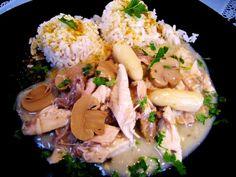 Das perfekte Hühnerfrikassee - klassisch...-Rezept mit einfacher Schritt-für-Schritt-Anleitung: Vorbereitung: Vom gegarten Suppenhuhn das Fleisch lösen…