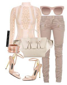 Untitled #2288 by stylebyteajaye on Polyvore featuring polyvore fashion style Balmain Tom Ford CÉLINE Hermès STELLA McCARTNEY clothing