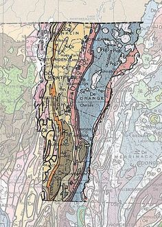 Geologic Maps Of The United States - Us map from texarkana to grand canyon