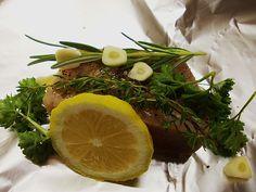 Mediterran gegrilltes Thunfischsteak