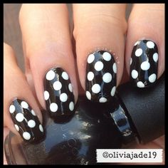 Polishes used: Sinful Colors Black On Black and Sinful Colors Snow Me White